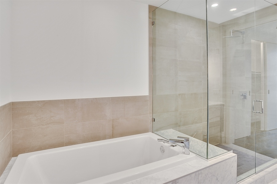 Real Estate Photography - 111 S Peoria St, Chicago, IL, 60607 - Master Bathroom