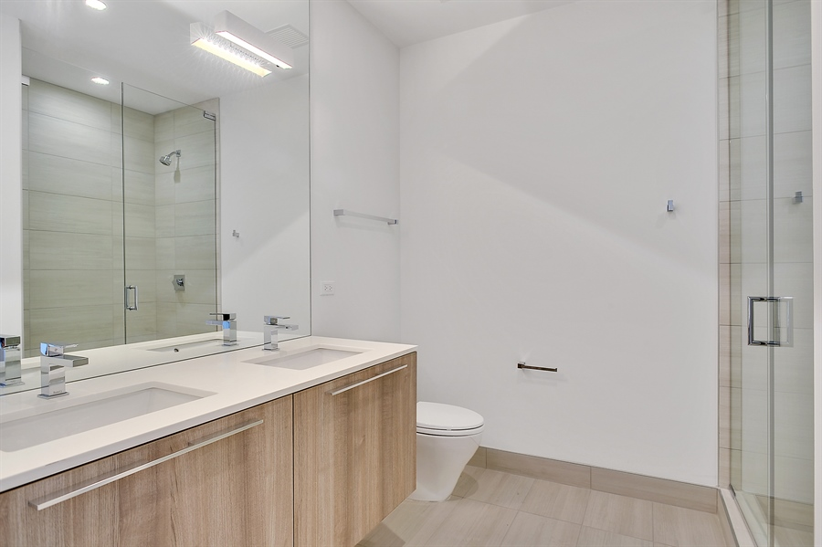 Real Estate Photography - 111 S Peoria St, Chicago, IL, 60607 - 2nd Bathroom