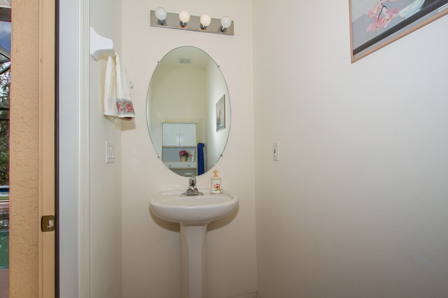 Real Estate Photography - 3930 24th Ave SE, Naples, FL, 34117 - Half Bath