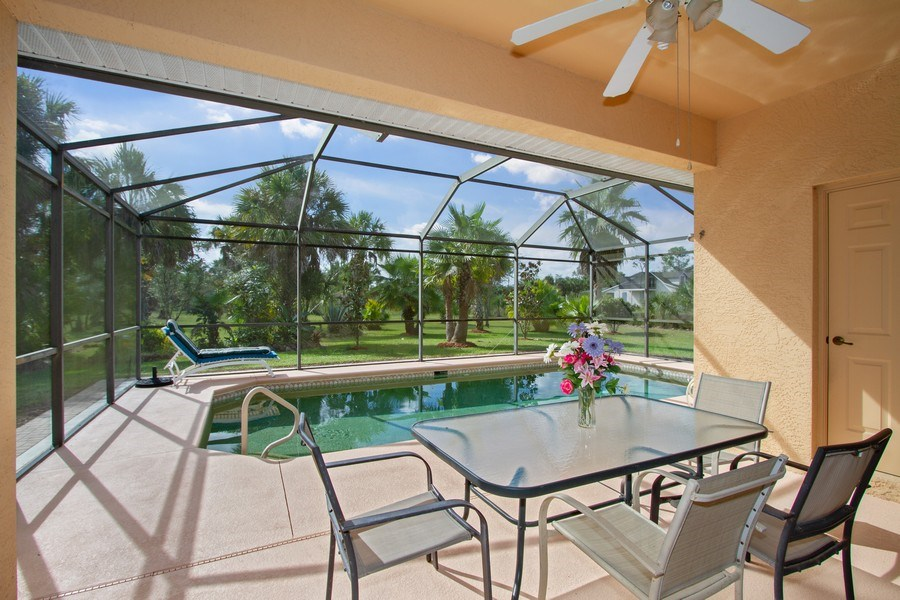 Real Estate Photography - 3930 24th Ave SE, Naples, FL, 34117 - Lanai