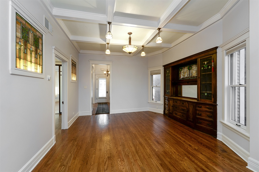 Real Estate Photography - 4217 N Winchester Ave, Chicago, IL, 60613 - Dining Room