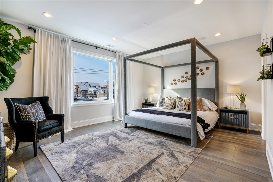 Real Estate Photography - 1906 N Hoyne Ave, Chicago, IL, 60639 - Master Bedroom