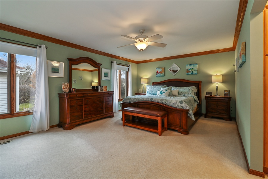Real Estate Photography - 8658 Butterfield Lane, orland park, IL, 60462 - Master Bedroom