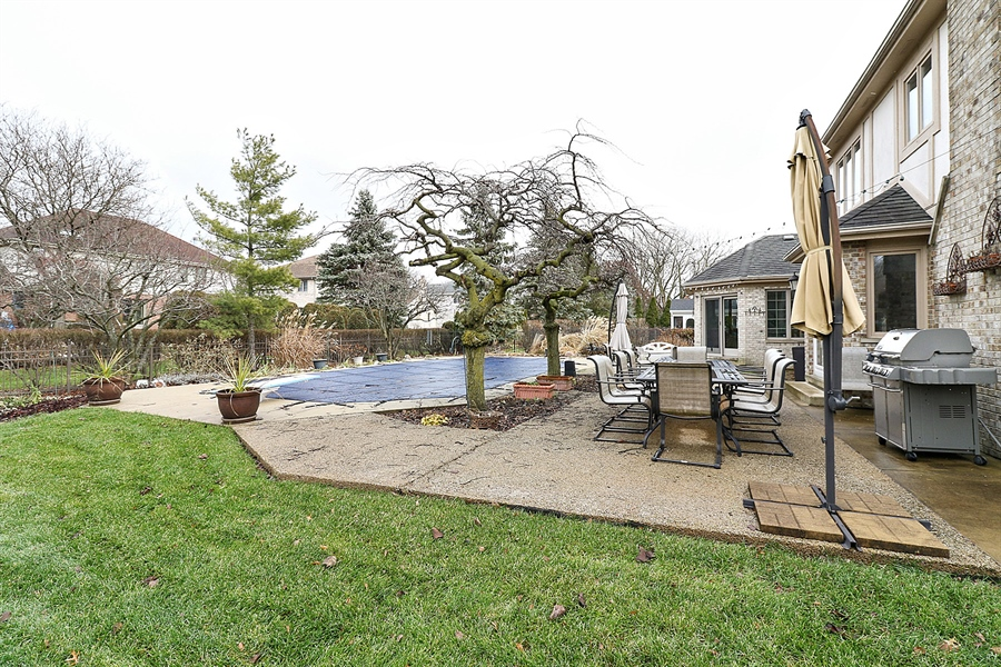 Real Estate Photography - 8658 Butterfield Lane, orland park, IL, 60462 - Back Yard