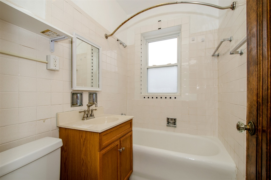 Real Estate Photography - 2729 Jarvis, Chicago, IL, 60645 - 2nd Bathroom