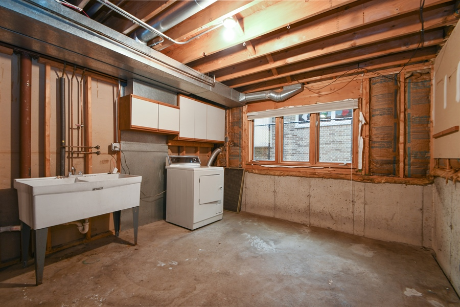 Real Estate Photography - 17140 70th Ave, Tinley Park, IL, 60477 - Laundry Room