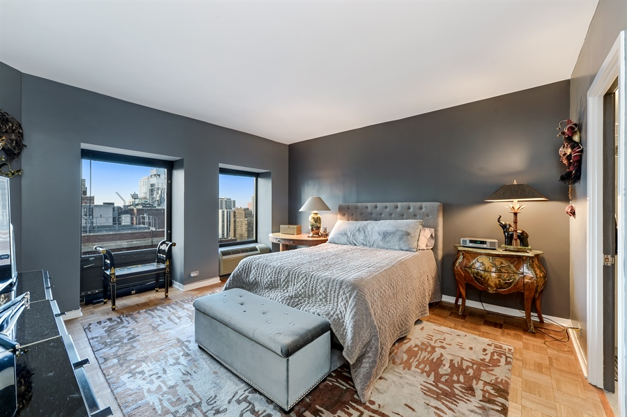 Real Estate Photography - 1100 N Lake Shore Dr, Unit 19C, Chicago, IL, 60611 - Master Bedroom