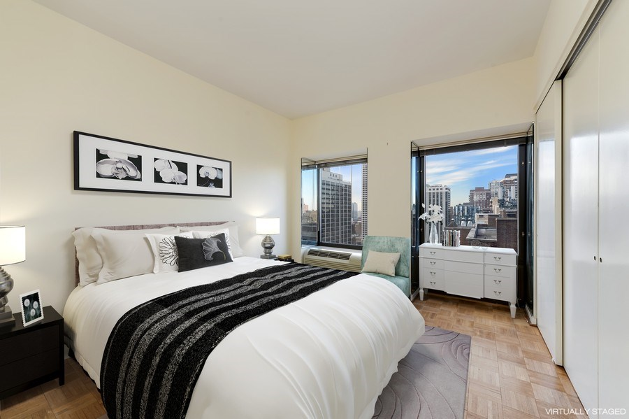 Real Estate Photography - 1100 N Lake Shore Dr, Unit 19C, Chicago, IL, 60611 - 3rd Bedroom