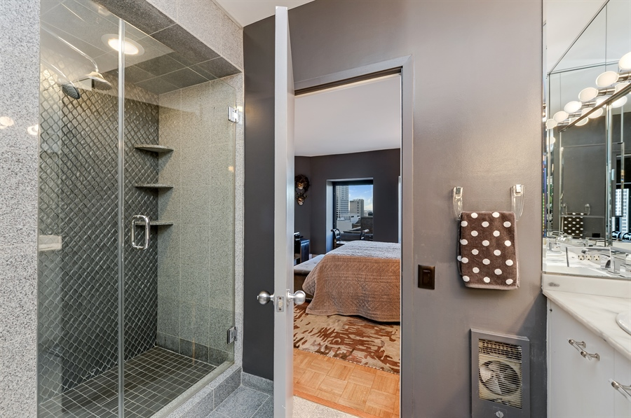 Real Estate Photography - 1100 N Lake Shore Dr, Unit 19C, Chicago, IL, 60611 - Master Bathroom