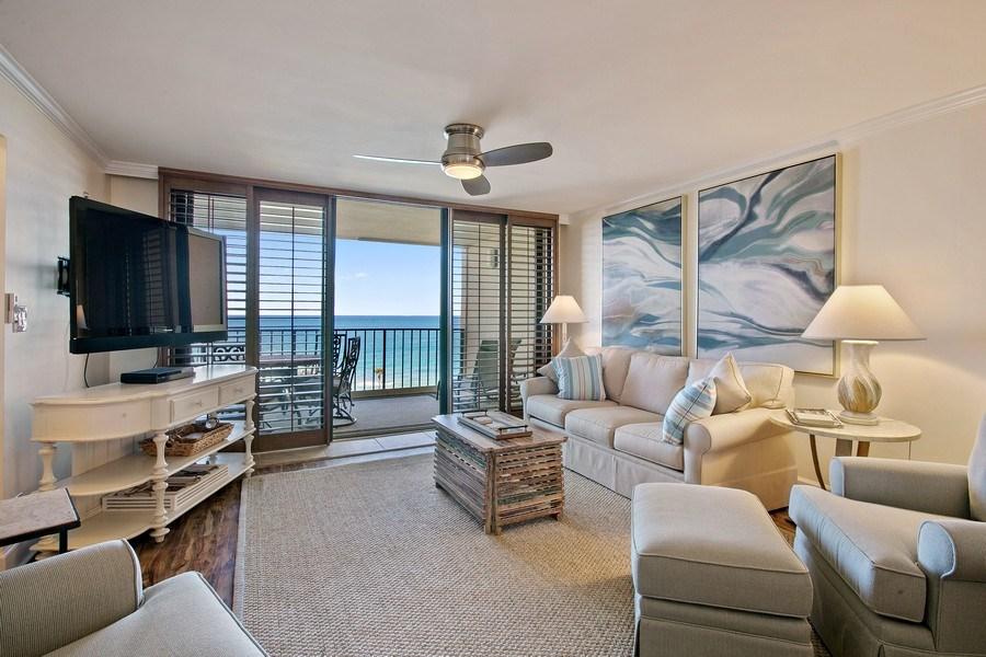 Real Estate Photography - 100 Ocean Trl, 710, Jupiter, FL, 33477 - Living Room