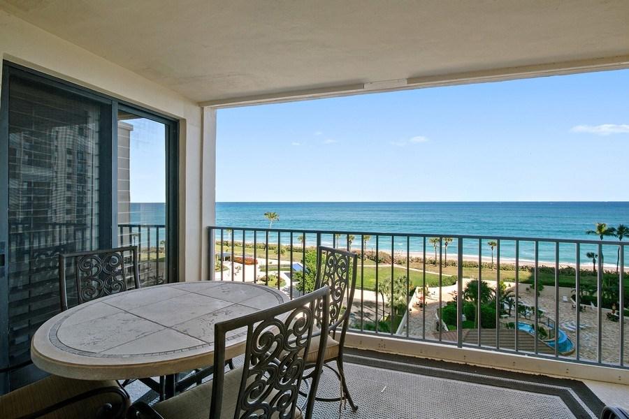Real Estate Photography - 100 Ocean Trl, 710, Jupiter, FL, 33477 - Balcony