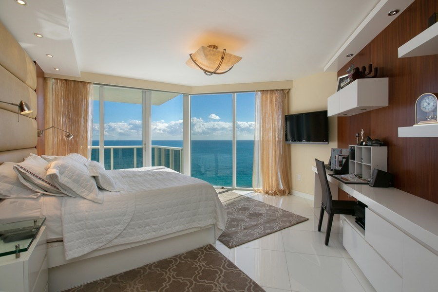 Real Estate Photography - 19333 Collins Ave, Apt 2001, Sunny Isles Beach, FL, 33160 - Master Bedroom
