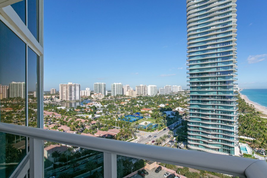 Real Estate Photography - 19333 Collins Ave, Apt 2001, Sunny Isles Beach, FL, 33160 - West view