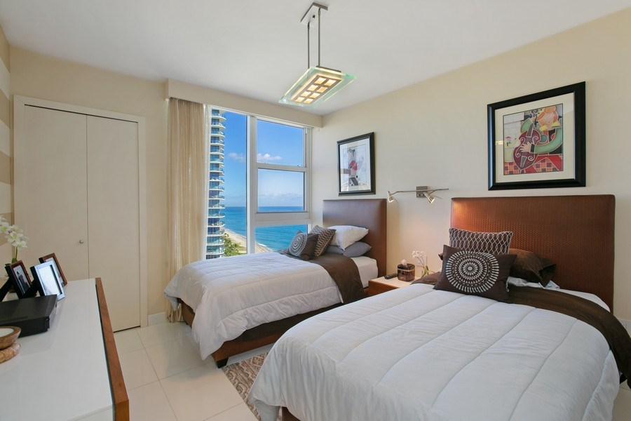 Real Estate Photography - 19333 Collins Ave, Apt 2001, Sunny Isles Beach, FL, 33160 - 2nd Bedroom