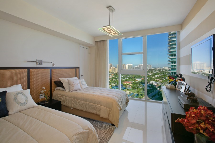 Real Estate Photography - 19333 Collins Ave, Apt 2001, Sunny Isles Beach, FL, 33160 - 3rd Bedroom