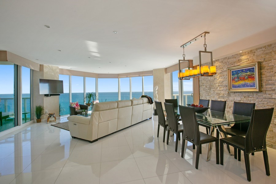 Real Estate Photography - 19333 Collins Ave, Apt 2001, Sunny Isles Beach, FL, 33160 - Dining Area