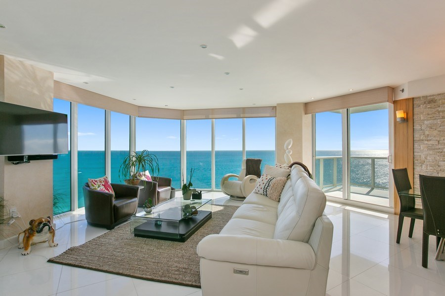 Real Estate Photography - 19333 Collins Ave, Apt 2001, Sunny Isles Beach, FL, 33160 - Living Area