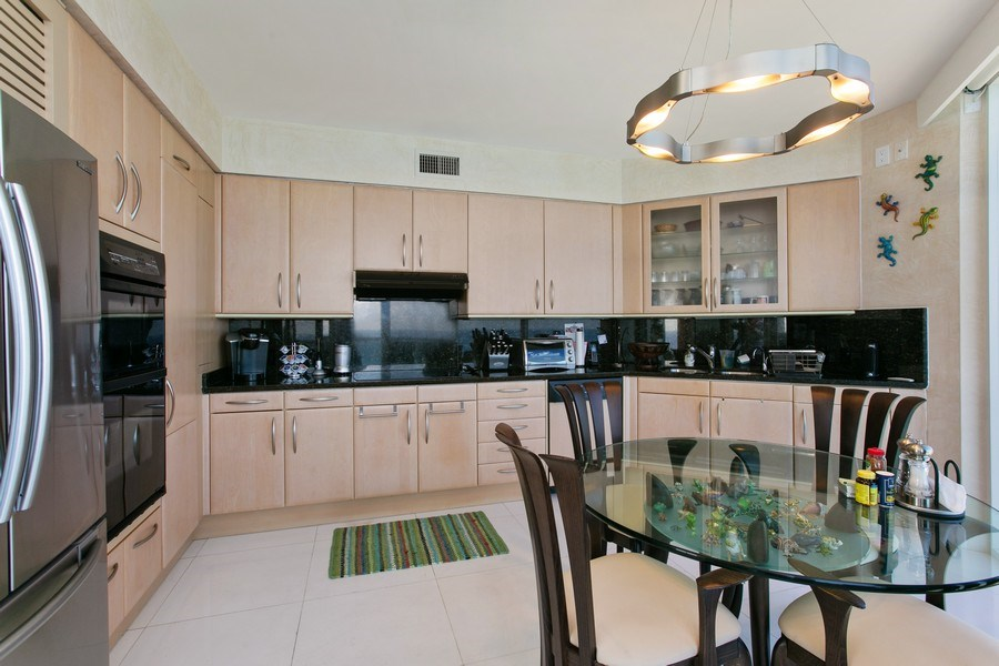 Real Estate Photography - 19333 Collins Ave, Apt 2001, Sunny Isles Beach, FL, 33160 - Kitchen