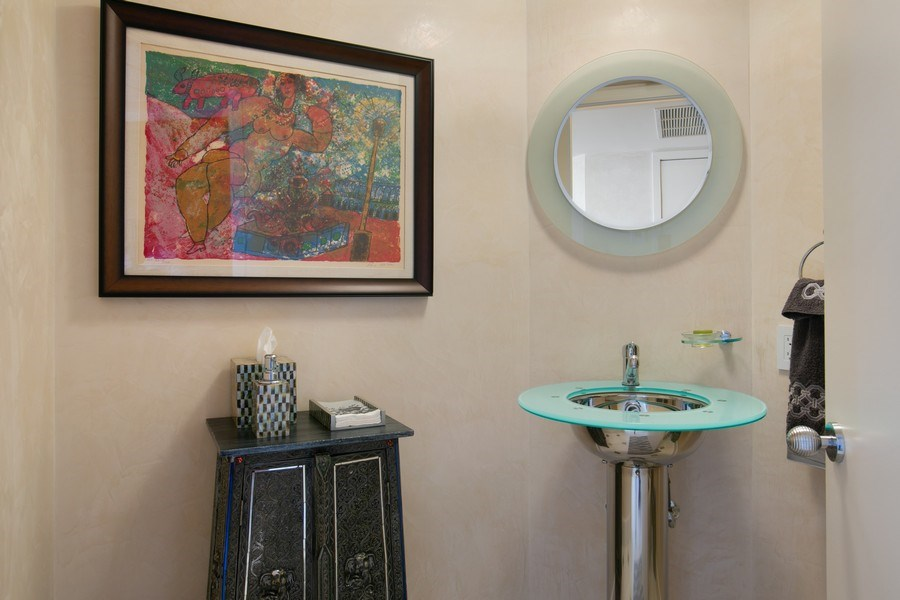 Real Estate Photography - 19333 Collins Ave, Apt 2001, Sunny Isles Beach, FL, 33160 - Powder Room