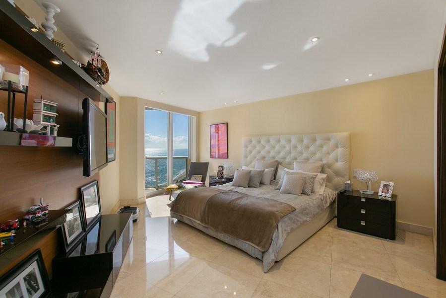 Real Estate Photography - 19333 Collins Ave, apt 1802, Aventura, FL, 33160 - Master Bedroom