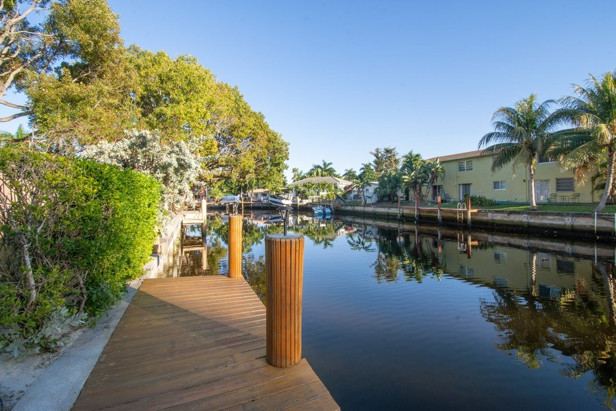 Real Estate Photography - 5811 NE 14th Ln, Fort Lauderdale, FL, 33334 - Dock