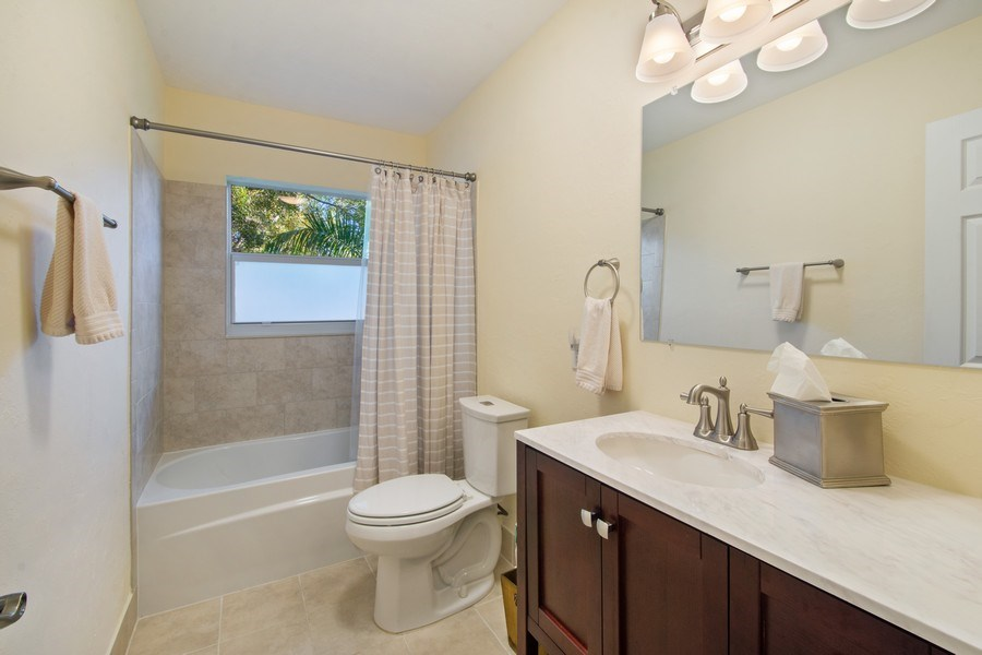 Real Estate Photography - 5811 NE 14th Ln, Fort Lauderdale, FL, 33334 - 2nd Bathroom
