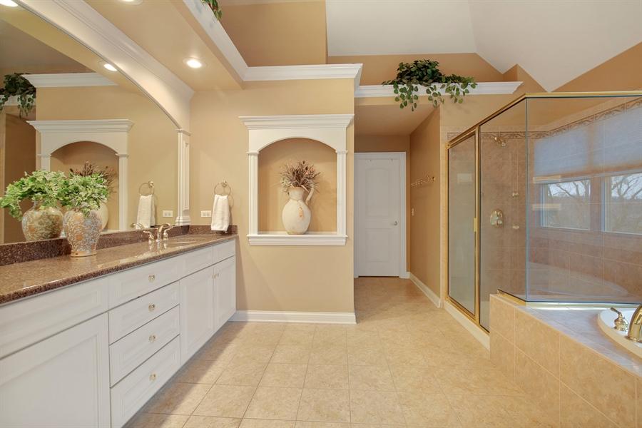 Real Estate Photography - 39W689 Walt Whitman Rd, St Charles, IL, 60175 - Master Bathroom