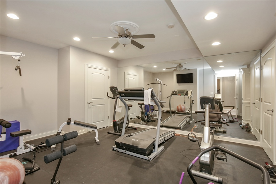 Real Estate Photography - 39W689 Walt Whitman Rd, St Charles, IL, 60175 - Exercise Room