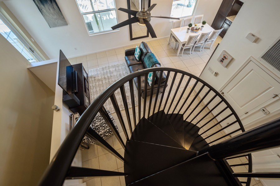 Real Estate Photography - 2906 Cascada Isle Way, Cooper City, FL, 33024 - Staircase