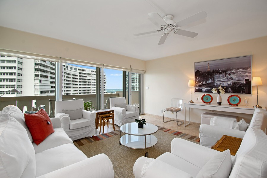 Real Estate Photography - 2100 S Ocean dr, 11E, Fort Lauderdale, FL, 33316 - Living Room