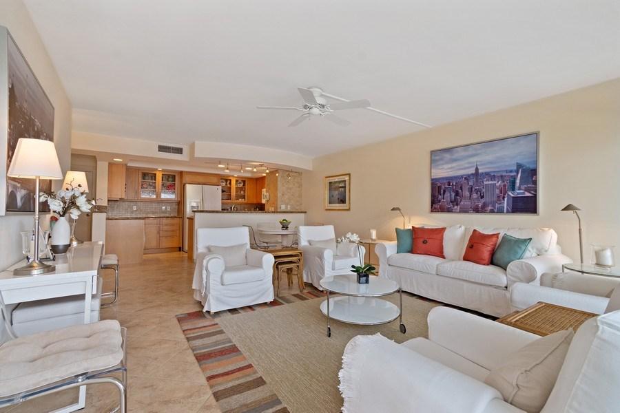 Real Estate Photography - 2100 S Ocean dr, 11E, Fort Lauderdale, FL, 33316 - Kitchen / Living Room