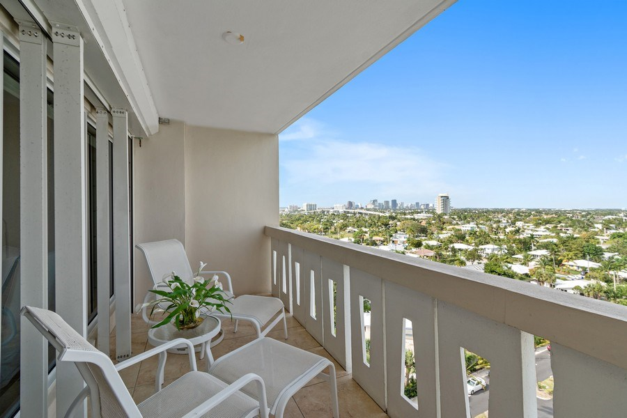 Real Estate Photography - 2100 S Ocean dr, 11E, Fort Lauderdale, FL, 33316 - Balcony