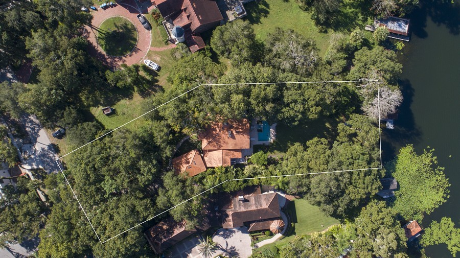 Real Estate Photography - 581 Sylvan Dr, Winter Park, FL, 32789 - Aerial View