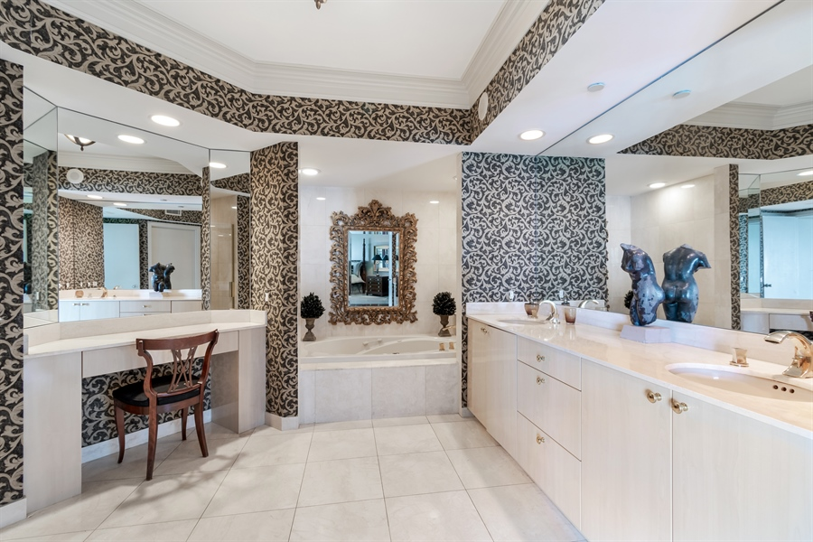 Real Estate Photography - 1700 S Ocean Blvd, Unit 18A, Pompano Beach, FL, 33062 - Master Bathroom