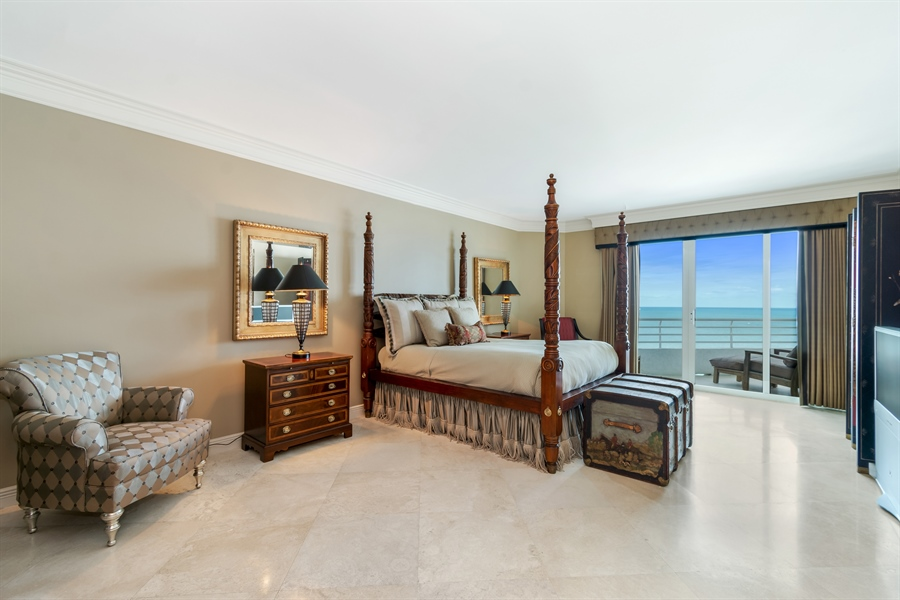 Real Estate Photography - 1700 S Ocean Blvd, Unit 18A, Pompano Beach, FL, 33062 - Master Bedroom