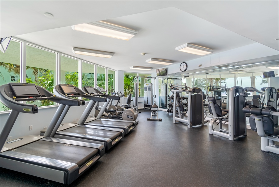 Real Estate Photography - 1700 S Ocean Blvd, Unit 18A, Pompano Beach, FL, 33062 - Gym