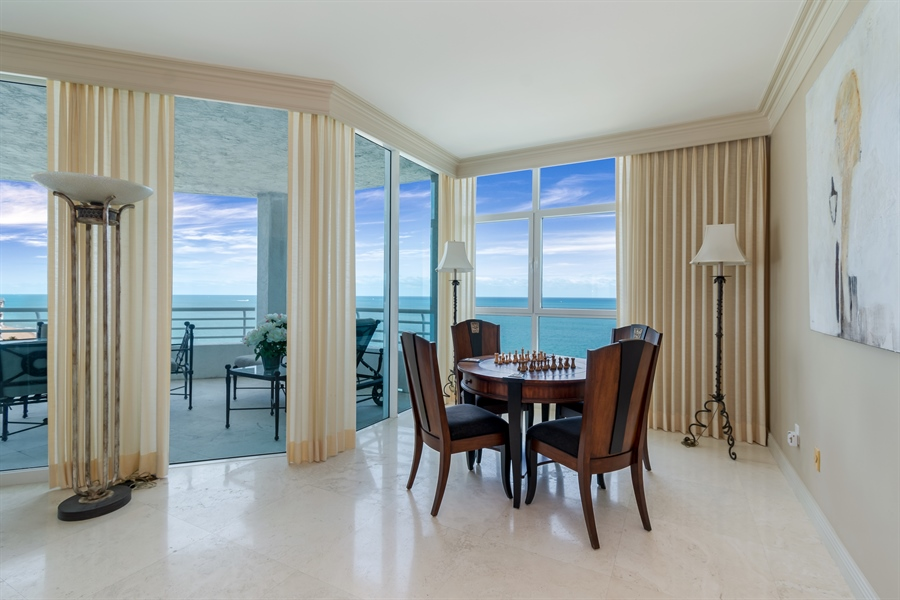 Real Estate Photography - 1700 S Ocean Blvd, Unit 18A, Pompano Beach, FL, 33062 - Sitting Room