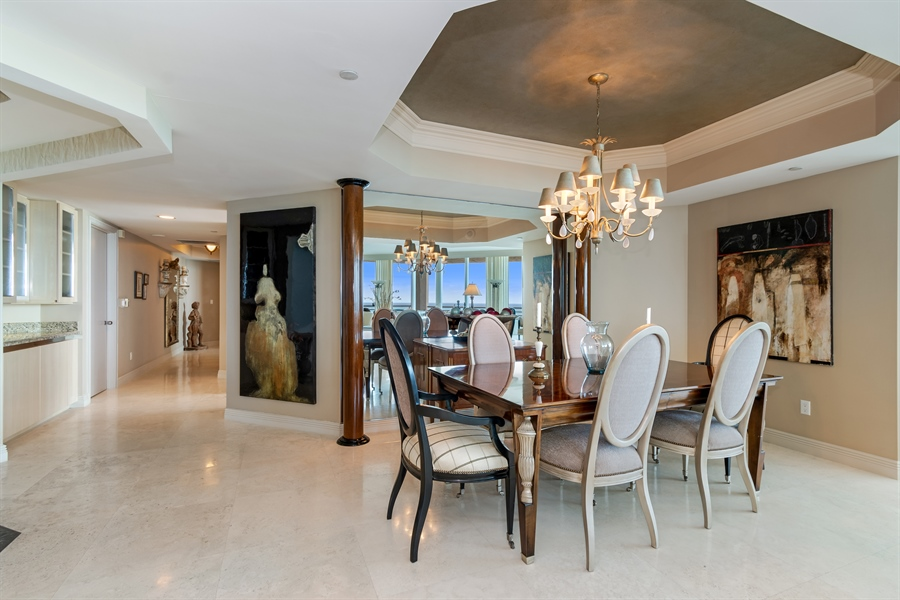 Real Estate Photography - 1700 S Ocean Blvd, Unit 18A, Pompano Beach, FL, 33062 - Dining Room