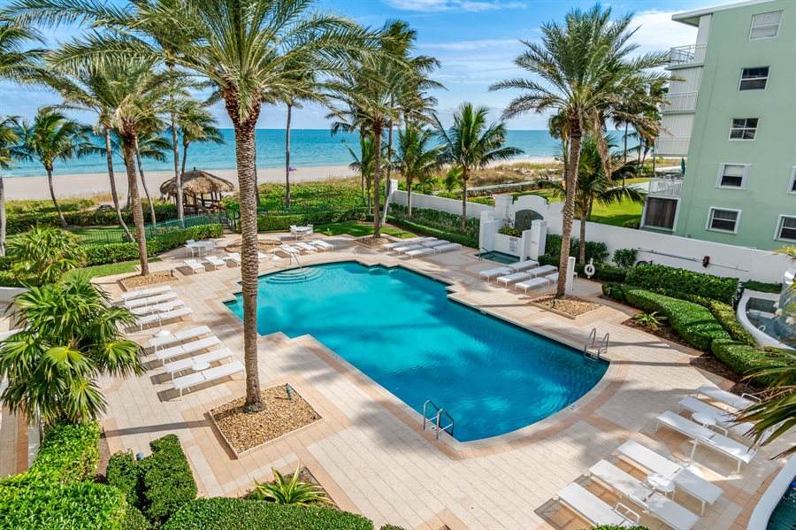 Real Estate Photography - 1700 S Ocean Blvd, Unit 18A, Pompano Beach, FL, 33062 - Pool