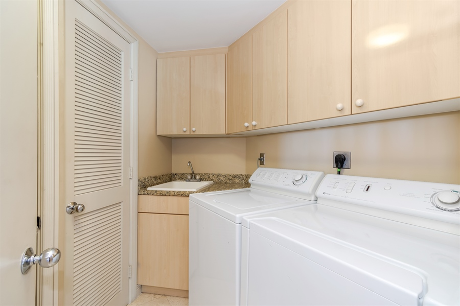 Real Estate Photography - 1700 S Ocean Blvd, Unit 18A, Pompano Beach, FL, 33062 - Laundry Room