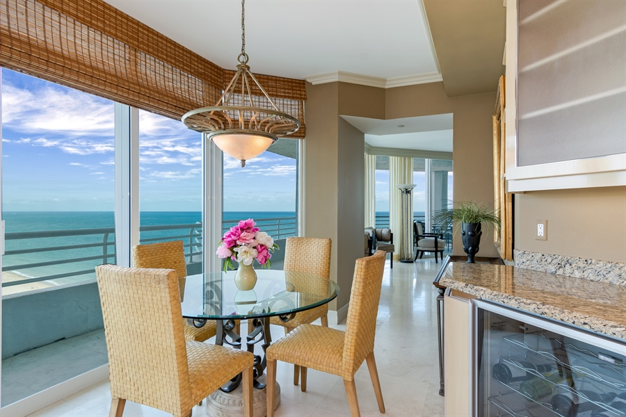 Real Estate Photography - 1700 S Ocean Blvd, Unit 18A, Pompano Beach, FL, 33062 - Breakfast Room