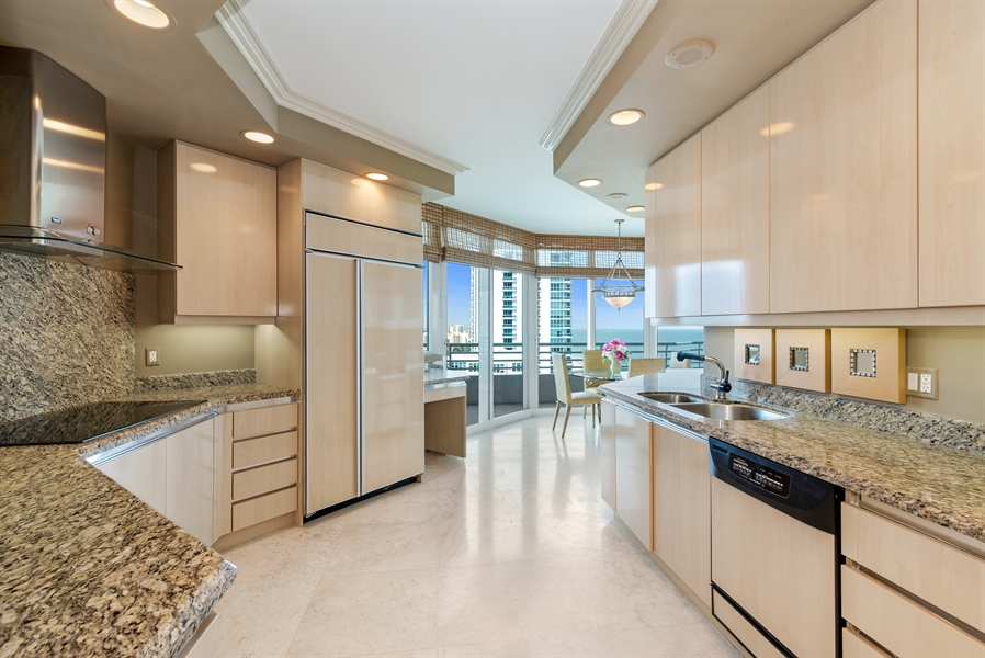 Real Estate Photography - 1700 S Ocean Blvd, Unit 18A, Pompano Beach, FL, 33062 - Kitchen