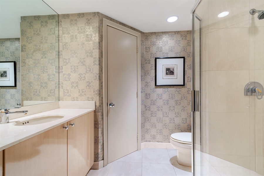 Real Estate Photography - 1700 S Ocean Blvd, Unit 18A, Pompano Beach, FL, 33062 - 2nd Bathroom