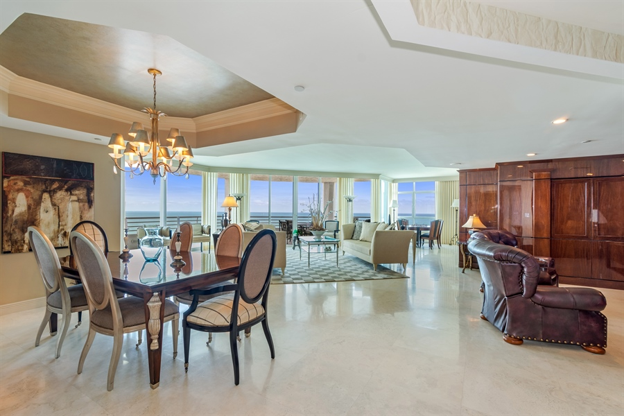 Real Estate Photography - 1700 S Ocean Blvd, Unit 18A, Pompano Beach, FL, 33062 - Living Room / Dining Room