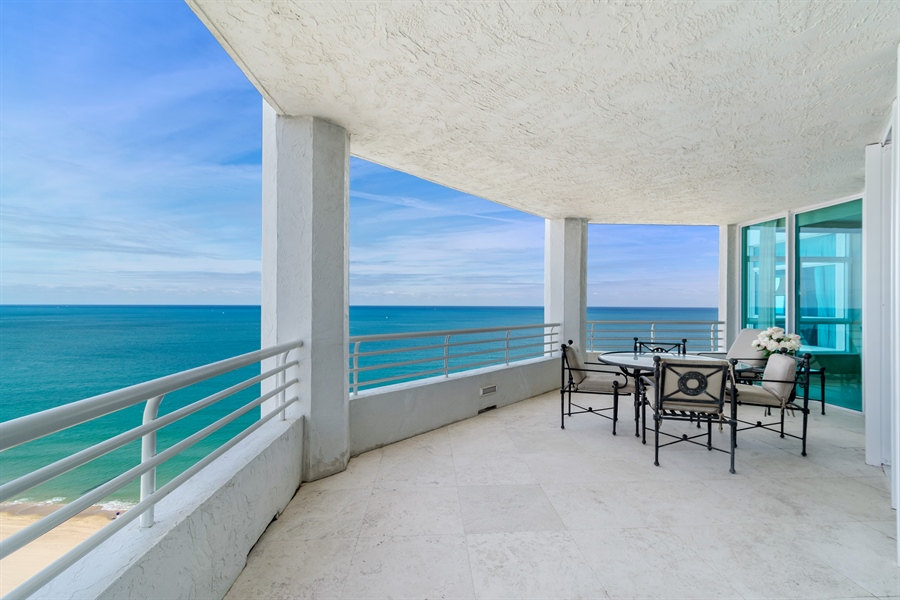 Real Estate Photography - 1700 S Ocean Blvd, Unit 18A, Pompano Beach, FL, 33062 - Balcony