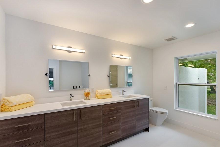 Real Estate Photography - 4230 Live Oak Blvd, Delray Beach, FL, 33445 - 2nd Bathroom