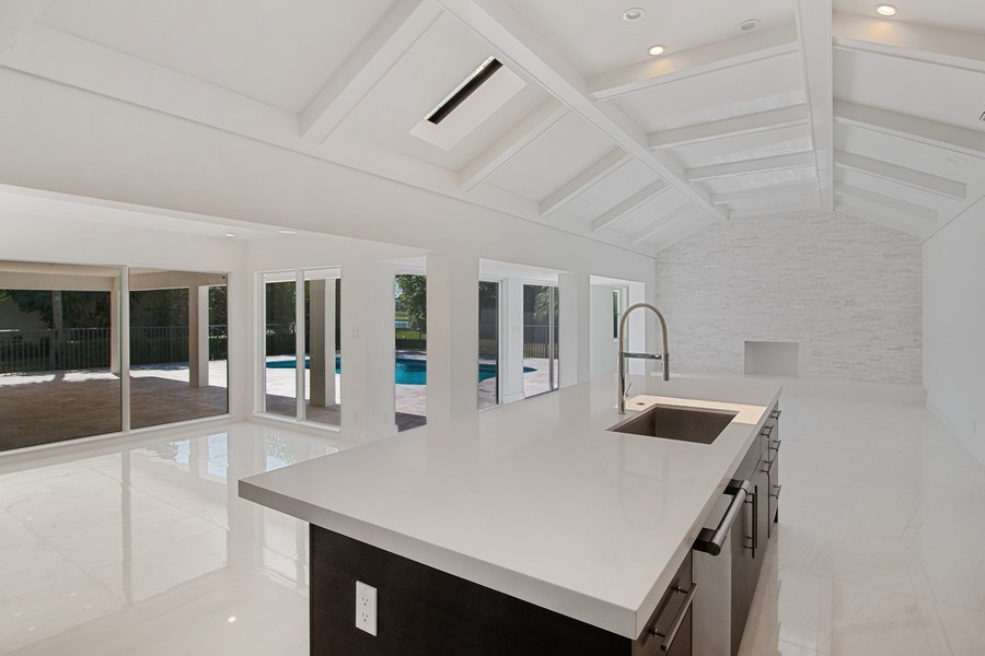 Real Estate Photography - 4230 Live Oak Blvd, Delray Beach, FL, 33445 - Family Room / Kitchen