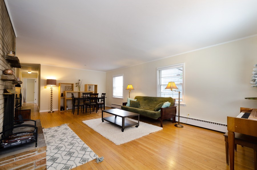 Real Estate Photography - 3306 Hayes Street, Evanston, IL, 60202 - Living Room / Dining Room