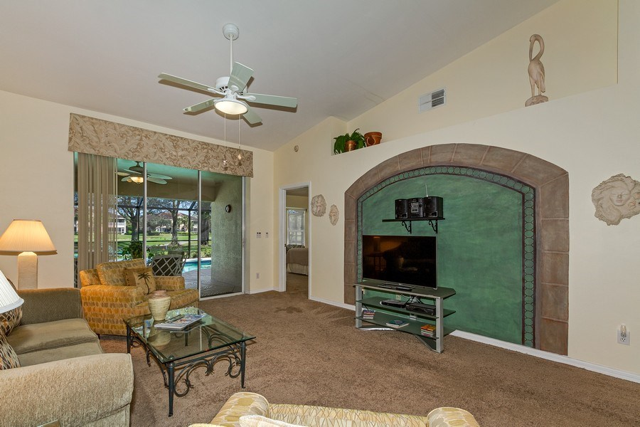 Real Estate Photography - 8047 Palamino Dr, Naples, FL, 34113 - Living Room
