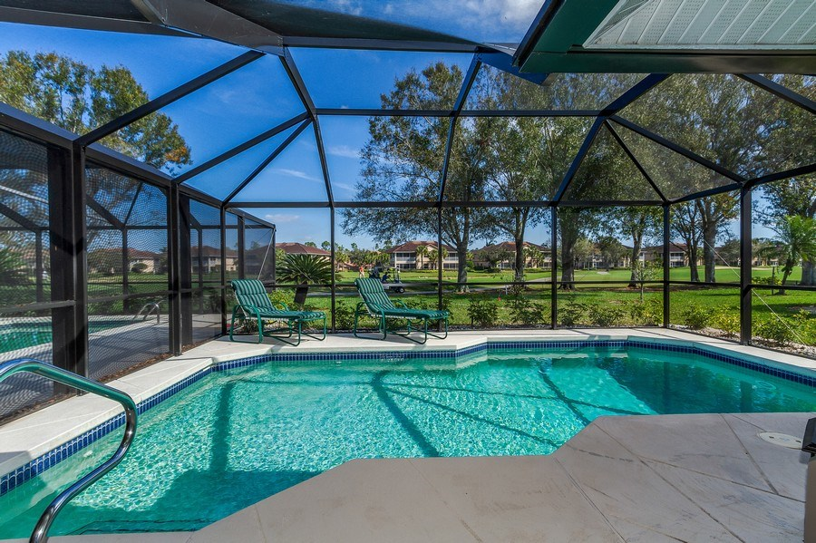 Real Estate Photography - 8047 Palamino Dr, Naples, FL, 34113 - Pool